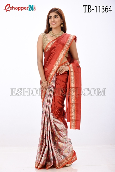 Picture of Soft Silk Saree- TB-11364