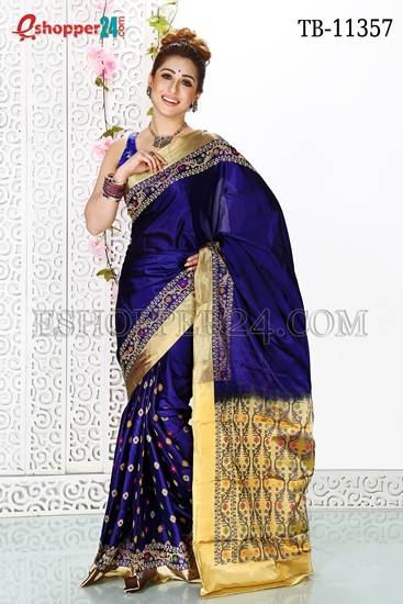 Picture of Soft Silk Saree- TB-11357