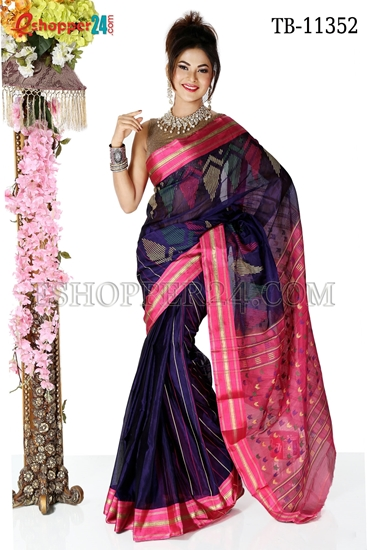 Picture of Half Silk Saree- TB-11352