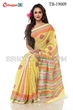 Picture of Half Silk Block Print  Saree - TB-19009