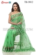 Picture of Half Silk Block Print  Saree - TB-19012