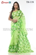 Picture of Half Silk Hand Print  Saree - TB-1158