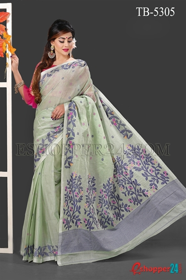 Picture of Soft Cotton Hand Work Saree - TB-5305