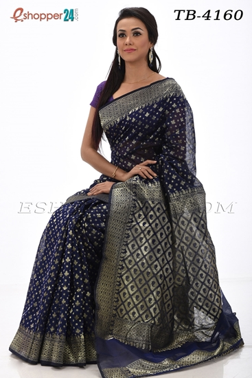Picture of Half Silk Saree (Allover Jori Kaj) - TB - 4160