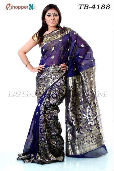 Picture of Half Silk Saree - TB-4188