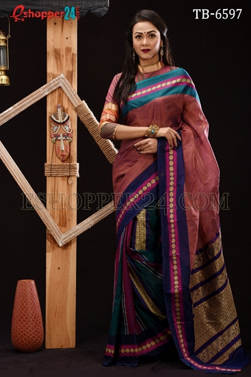Picture of Soft Cotton Saree - TB-6597