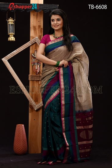 Picture of Soft Cotton Saree - TB-6608