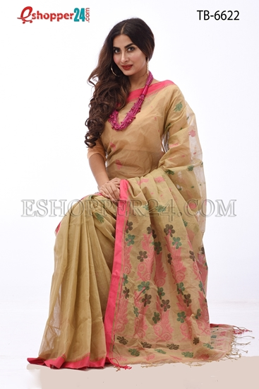 Picture of Hand Work Pure Cotton Saree - TB-6622