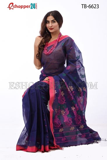 Picture of Hand Work Pure Cotton Saree - TB-6623