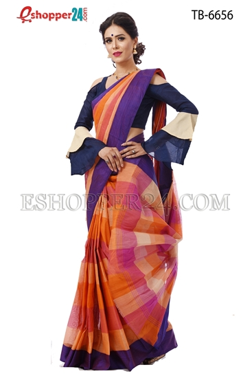 Picture of Pure Cotton Saree - TB-6656