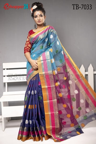 Picture of Half Silk Saree - TB-7033