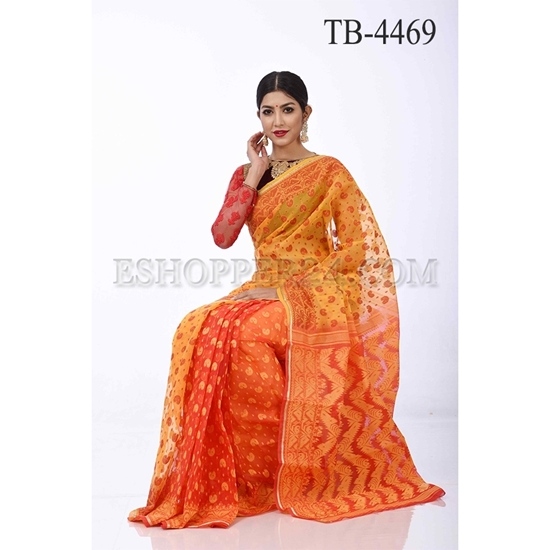 Picture of Half Silk  Jamdani Saree- TB-4469