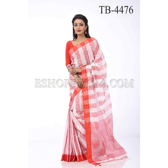 Picture of Cotton Handwork Saree - TB-4476