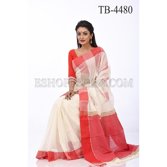 Picture of Soft Moslin  Saree - TB-4480