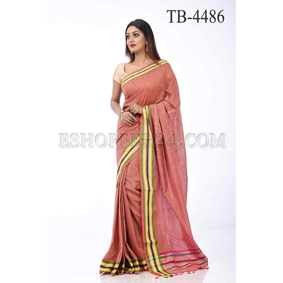 Picture of Jute Cotton Sari  - TB-4486