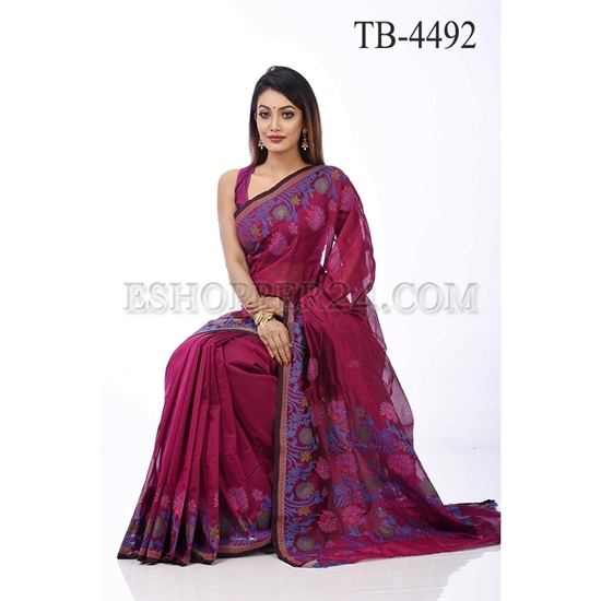 Picture of Gas Silk Saree - TB - 4492