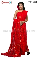 Picture of Moslin Silk Jamdani Saree - TB-15004