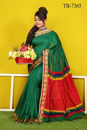 Picture of Half Silk Saree - TB-7365