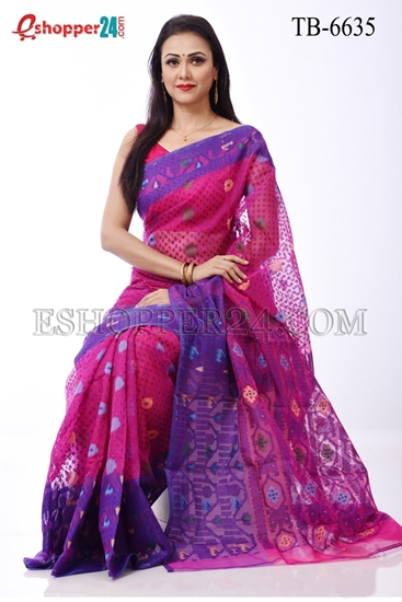 Picture of Moslin Jamdani Saree - TB-6635