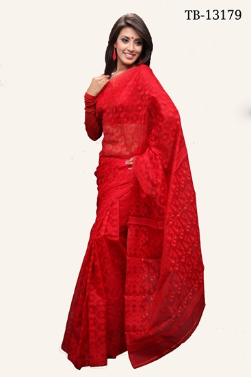 Picture of Moslin Jamdani Saree - TB-13179