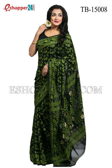 Picture of Moslin Jamdani Saree - TB-15008