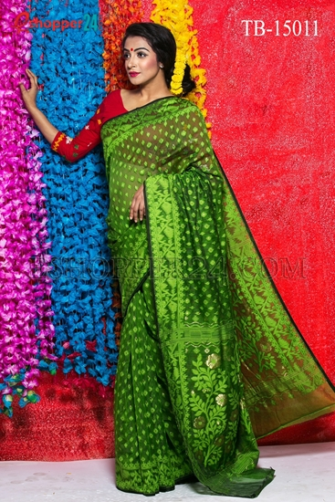 Picture of Moslin Jamdani Saree - TB-15011