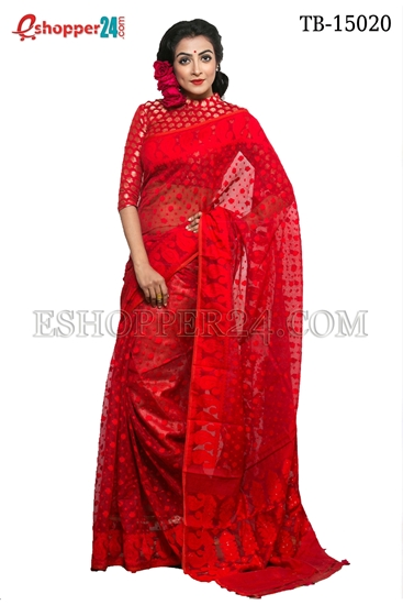Picture of Moslin Jamdani Saree - TB-15020