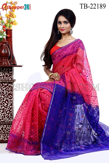 Picture of Moslin Jamdani Saree - TB-22189
