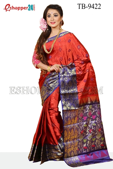 Picture of Soft Silk Saree- TB-9422