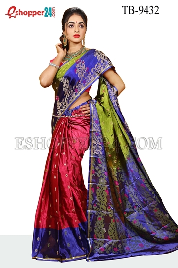 Picture of Soft Silk Saree- TB-9432