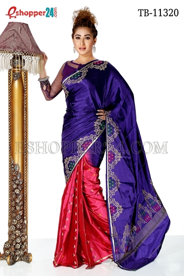 Picture of Soft Silk Saree- TB-11320
