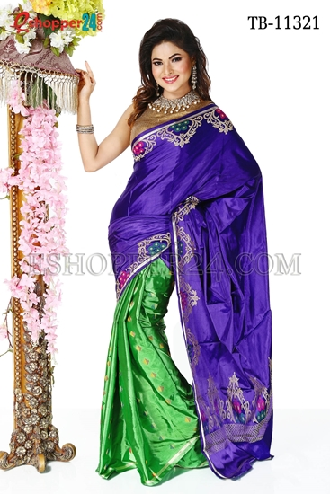 Picture of Soft Silk Saree- TB-11321