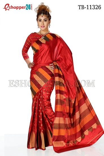 Picture of Soft Silk Saree- TB-11326