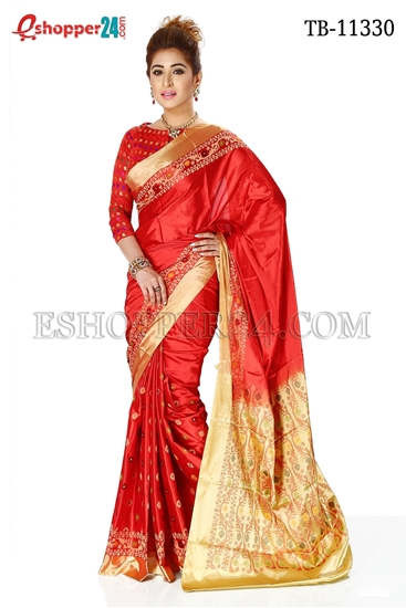 Picture of Soft Silk Saree- TB-11330