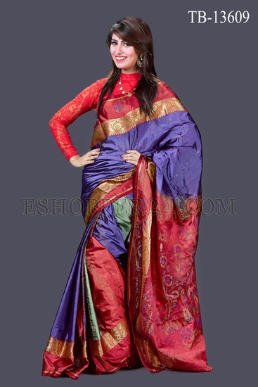 Picture of Pure Silk Saree- TB-13609