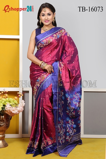 Picture of Soft Silk Saree- TB-16073