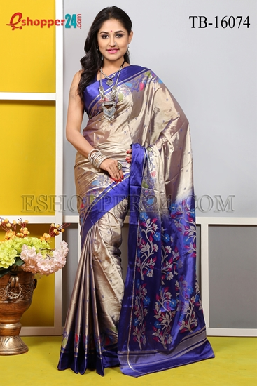 Picture of Soft Silk Saree- TB-16074