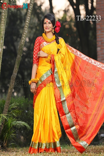 Picture of Soft Silk Saree- TB-22233