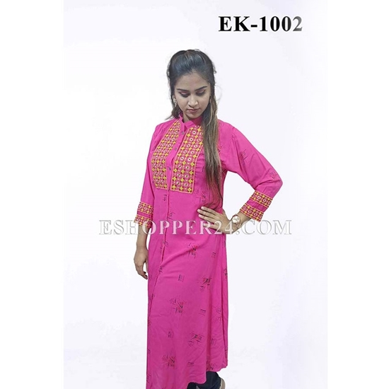 Picture of China Lilen with Embrodiery - EK-1002