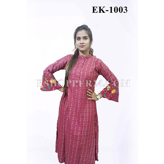Picture of China Lilen with Embrodiery - EK-1003