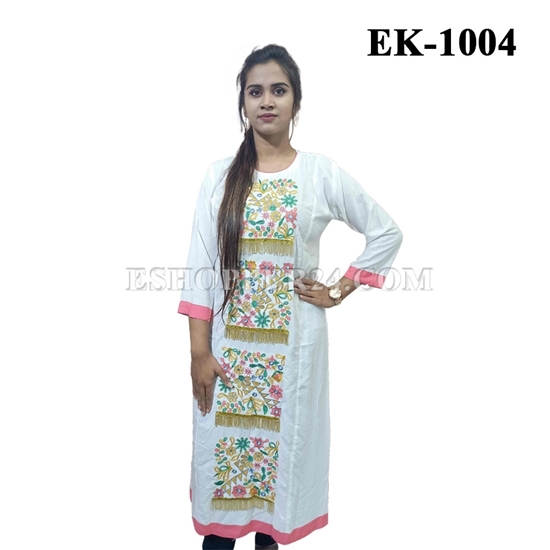 Picture of China Lilen with Embrodiery - EK-1004