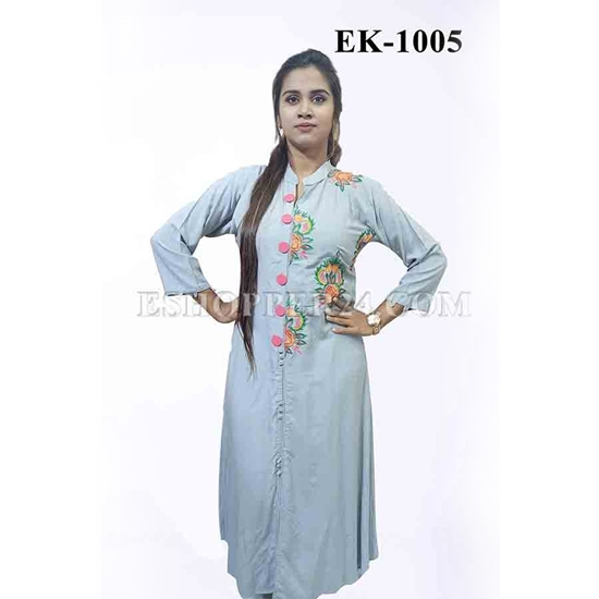 Picture of China Lilen with Embrodiery - EK-1005