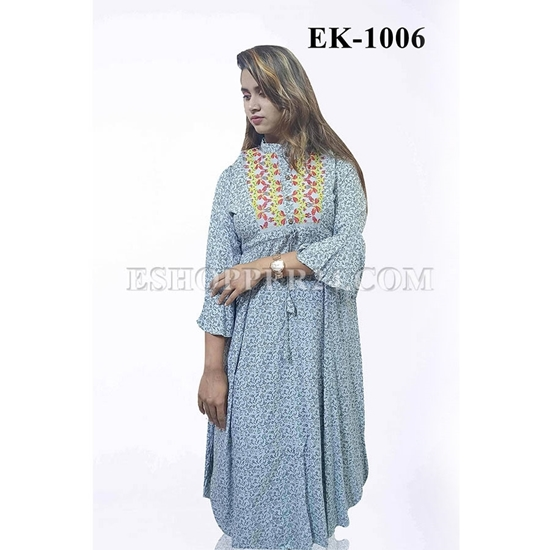 Picture of China Lilen with Embrodiery -EK-1006