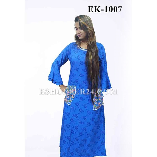 Picture of China Lilen with Embrodiery -EK-1007