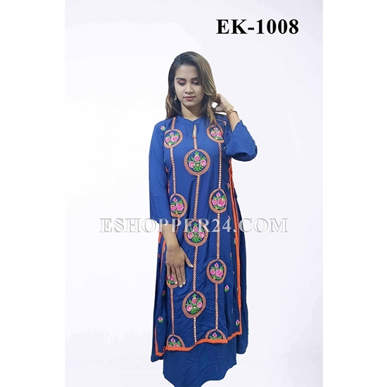 Picture of China Lilen with Embrodiery - EK-1008