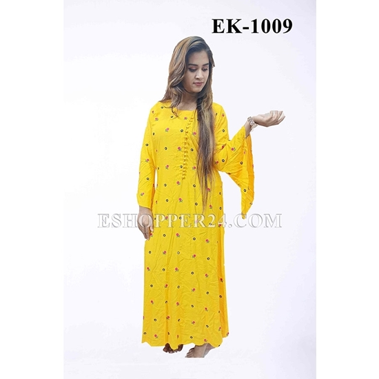 Picture of China Lilen with Embrodiery - EK-1009