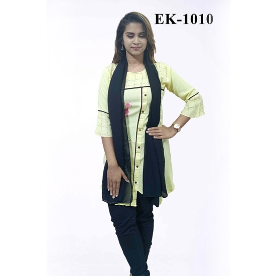 Picture of China Lilen with Embrodiery - EK-1010