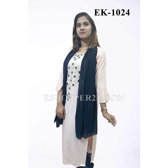 Picture of China Lilen with Embrodiery - EK-1024